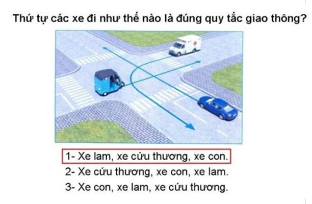 thi lý thuyết lái xe b1 câu hỏi sa hình